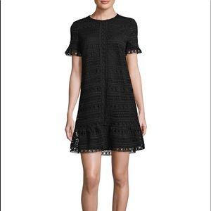 Kate Spade Black Mixed Lace Shift Dress